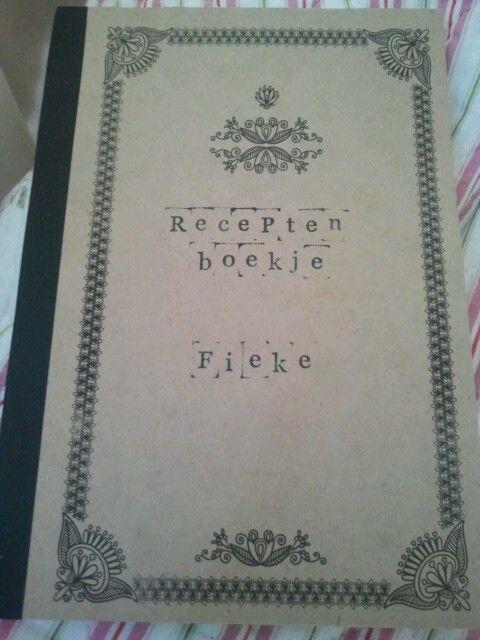 Boekje voor de verzamelde recepten
