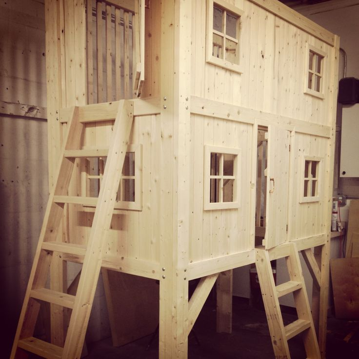 ... Family project. DIY Loft Bed. Bunk bed. Playhouse. Kids bed.Bunkbeds