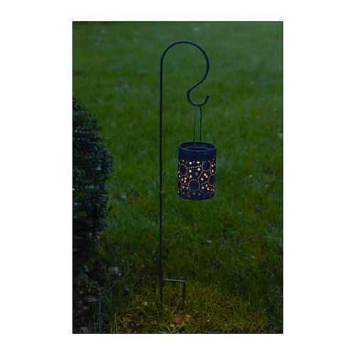 IKEA - SOLVINDEN, LED solar-powered lantern, , Helping you save energy and reduce your environmental impact because it is powered by a solar panel that converts sunlight into electricity.Solar cells transform sunlight into energy - requires no electrical connections.Easy to use because no cables or plugs are needed.