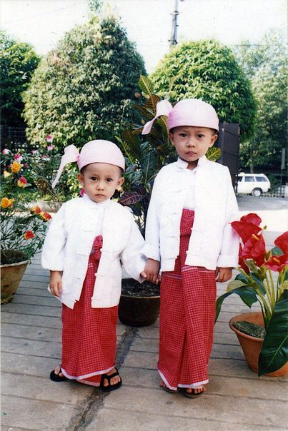 The Two Kids On The Above Picture Are Wearing Gaung Paung