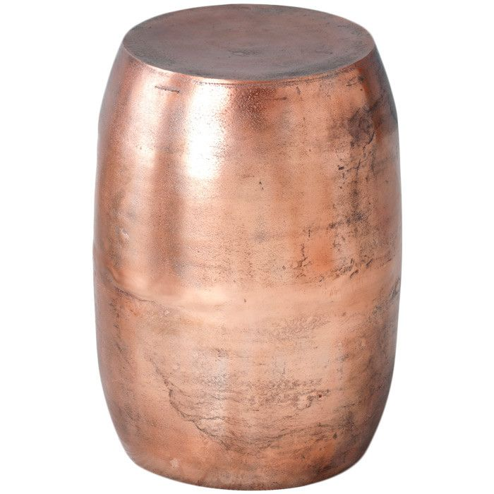Aluminum Drum Style Stool With A Weathered Copper Finish. Emelle Stool From  Joss U0026 Main Product: Stool Construction Material: Aluminum.