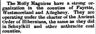 Genealogical Gems: On This Day: Molly Maguires make the news