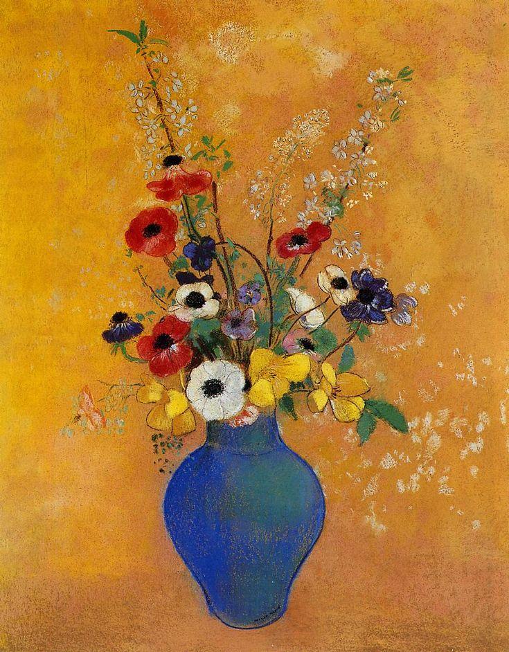 Odilon redon vase of flowers 1905 art pinterest