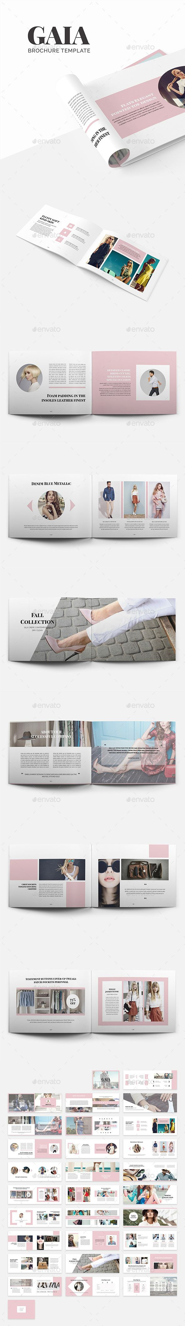 Gaia Brochure Template InDesign INDD - 58 Pages, A4 and US Letter