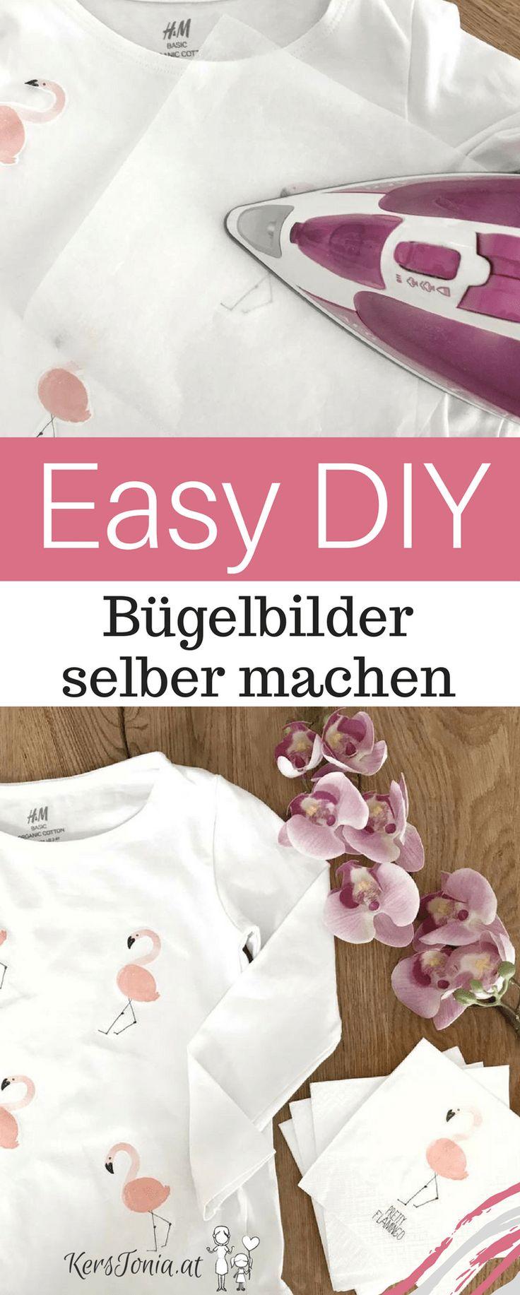 Einfache DIY - Flamingo Bügelbilder ganz leicht selbst gemacht - günstig einfach schnell. Upcycling das Spaß macht!