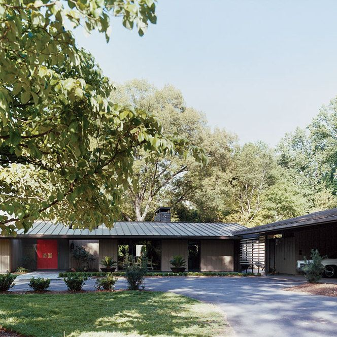 140 best images about mid century modern ranch exterior for Ranch style steel homes
