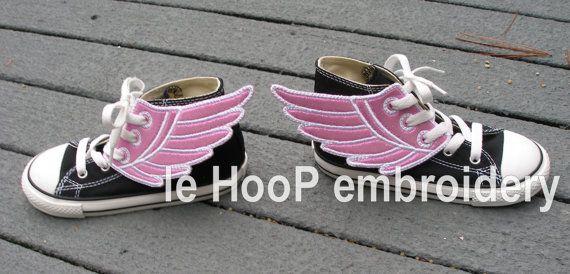 4x4 5x7 ANGEL Fairy Shoe Wings Machine Embroidery In-Hoop Design Super Hero Fantasy Steampunk Costume Percy Jackson Hermes Mercury Inspired on Etsy, $5.00