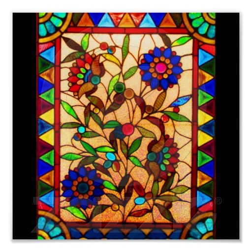 Poster-Vintage Stained Glass Art-32