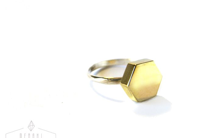 Hex Ring by Meraki Jewellery Design for sale on http://hellopretty.co.za