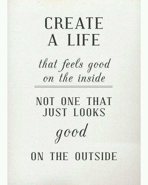 We love this quote! Feel good about all that you do for others in your life and for what you do for yourself.