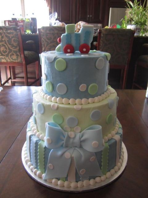 Train Baby Shower Cake Part - 40: Baby Shower Cake....without The Train On Top