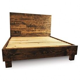 Farmhouse Bed Frame and Headboard Set / Reclaimed Style / Rustic and old world