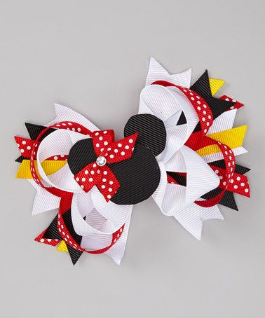 Take a look at this Red Mouse Bow Clip by Three Bears Hair Bows on #zulily today!