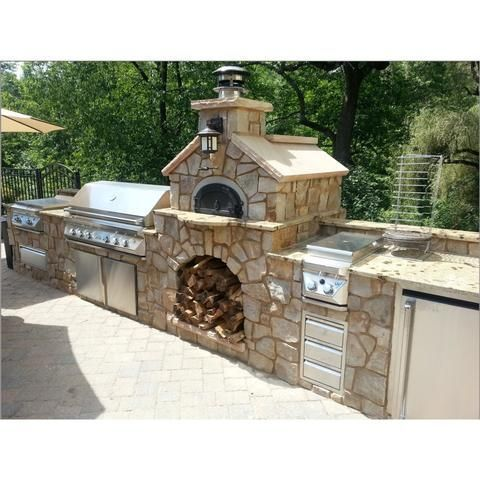 Chicago Brick Oven Wood Burning Refractory Pizza Oven Kit 750 Bundle #outdoorkitchens