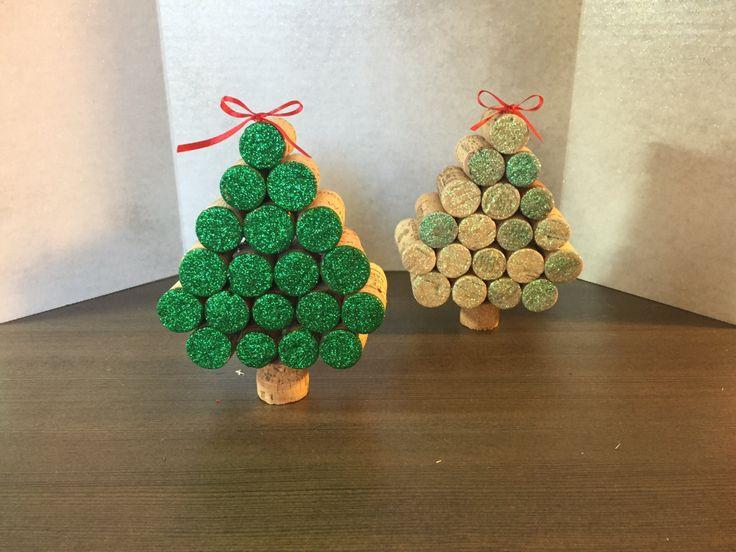 Albero di Natale di sughero del vino