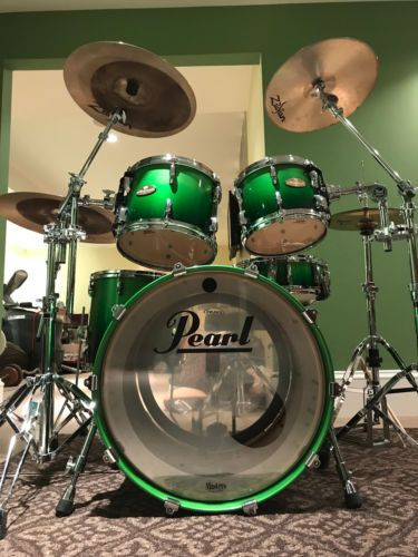 Details about Pearl Roadshow Complete 5-Piece Drum Set with