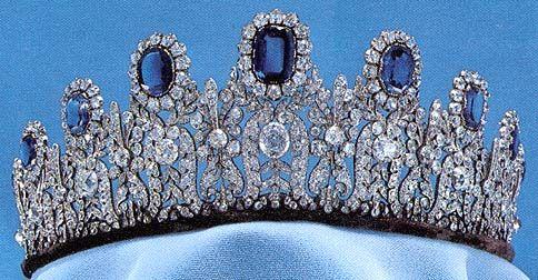The Leuchtenberg Sapphire Parure Tiara.  The parure now belongs to the Swedish royal family.