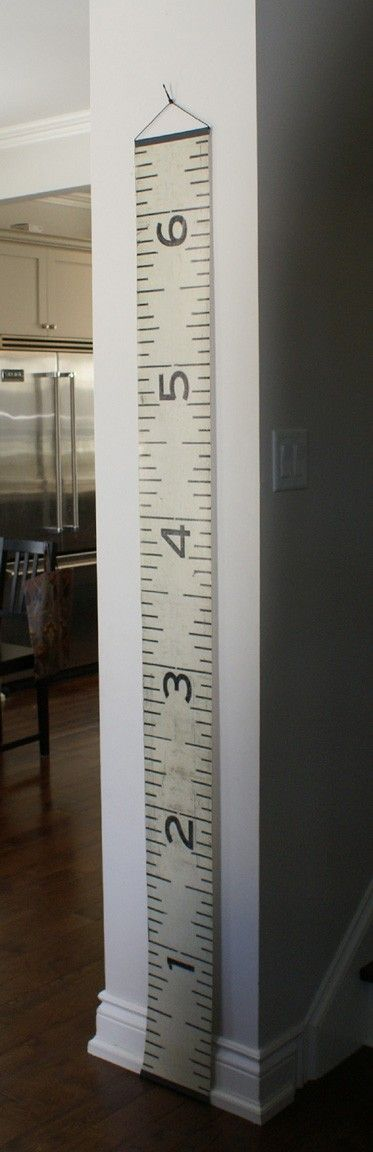 Love this height chart for the kids: Height Charts, Kids Growth Charts, Kids Stuff, For Kids, File Cabinets, Ruler Growth Charts, Sewing Rooms, Tape Measuring, Kids Rooms