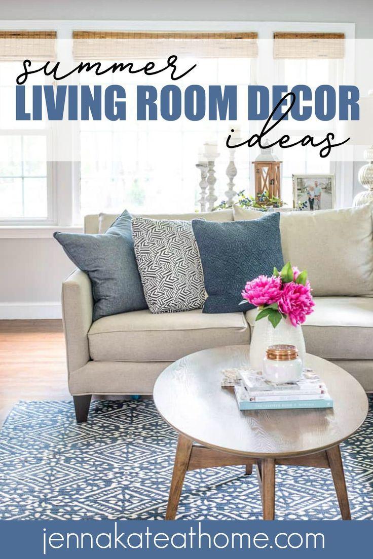 Coastal Inspired Summer Living Room Summer Living Room Su