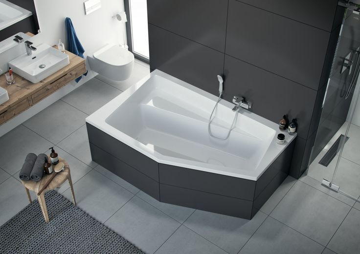 Duża, wygodna wanna narożna, 100% akryl sanitarny. http://www.excellent.com.pl/produkt/2323/wanna-narozna-vesper-lewa