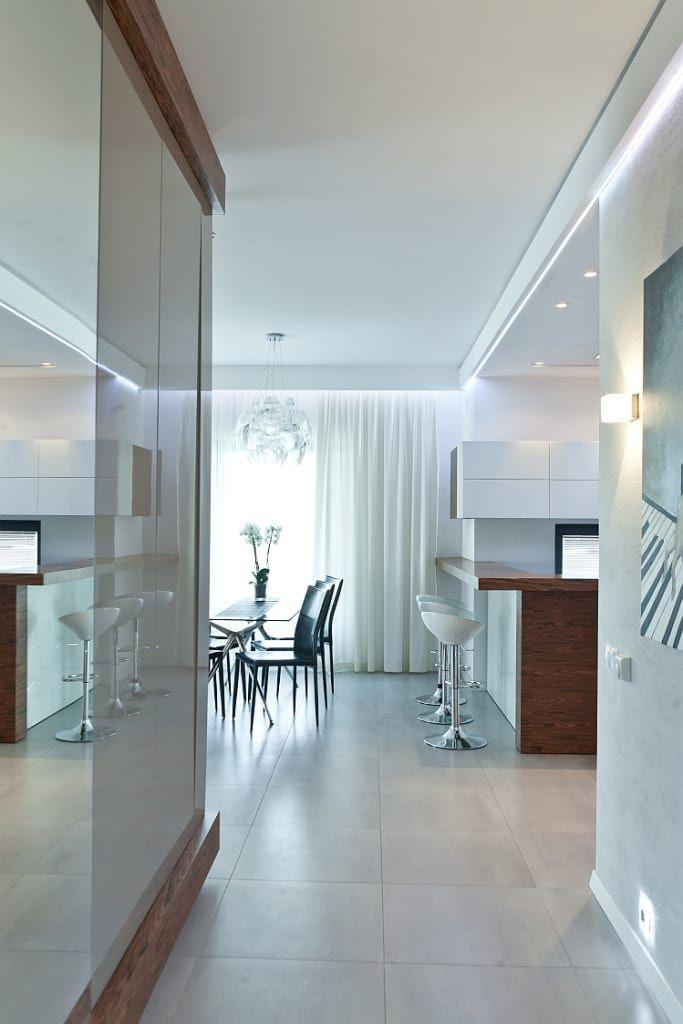 Implementação do projeto neptun 4: style, na categoria de sala de jantar projetada pelo escritório de design mtm styl – domywstylu.pl, moderno   – homify