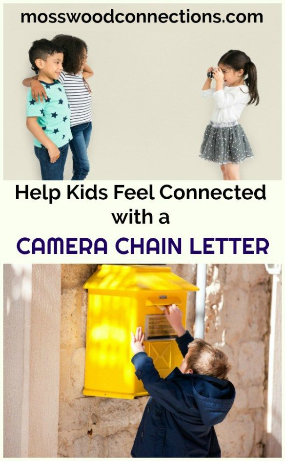 Camera Chain Letter Social Skills and Letter Writing Activity Helping Children to Feel Connected