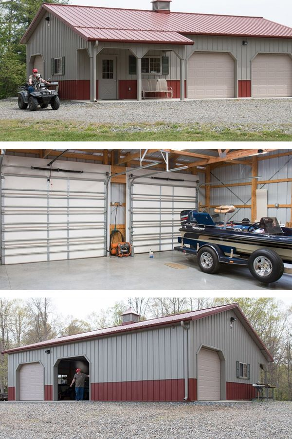 315 best images about barn garage on pinterest steel for Build office in garage