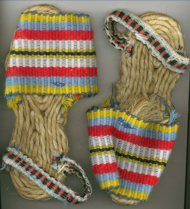 In the Andes, the alpargatas is a commonly worn shoes with a braided furcraea sole and colorful straps to support the heel and arch,
