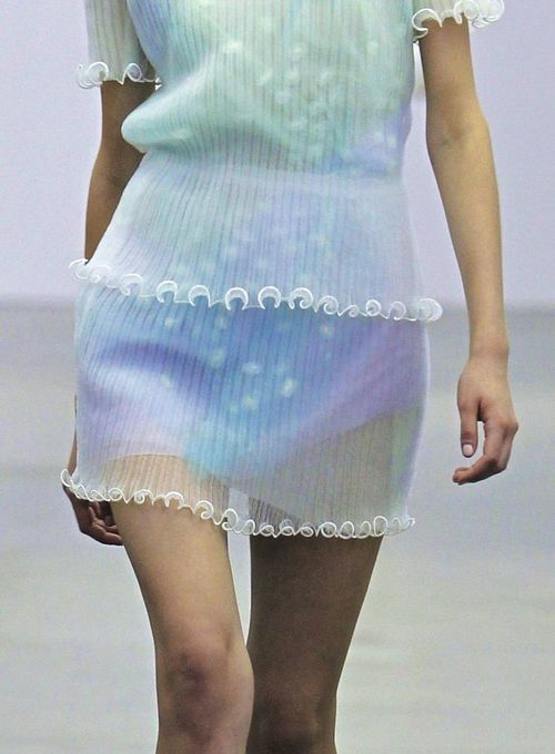 Iceberg sheer frilled sleeve dress S/S 2014 (looks sort of jellyfish-ish)