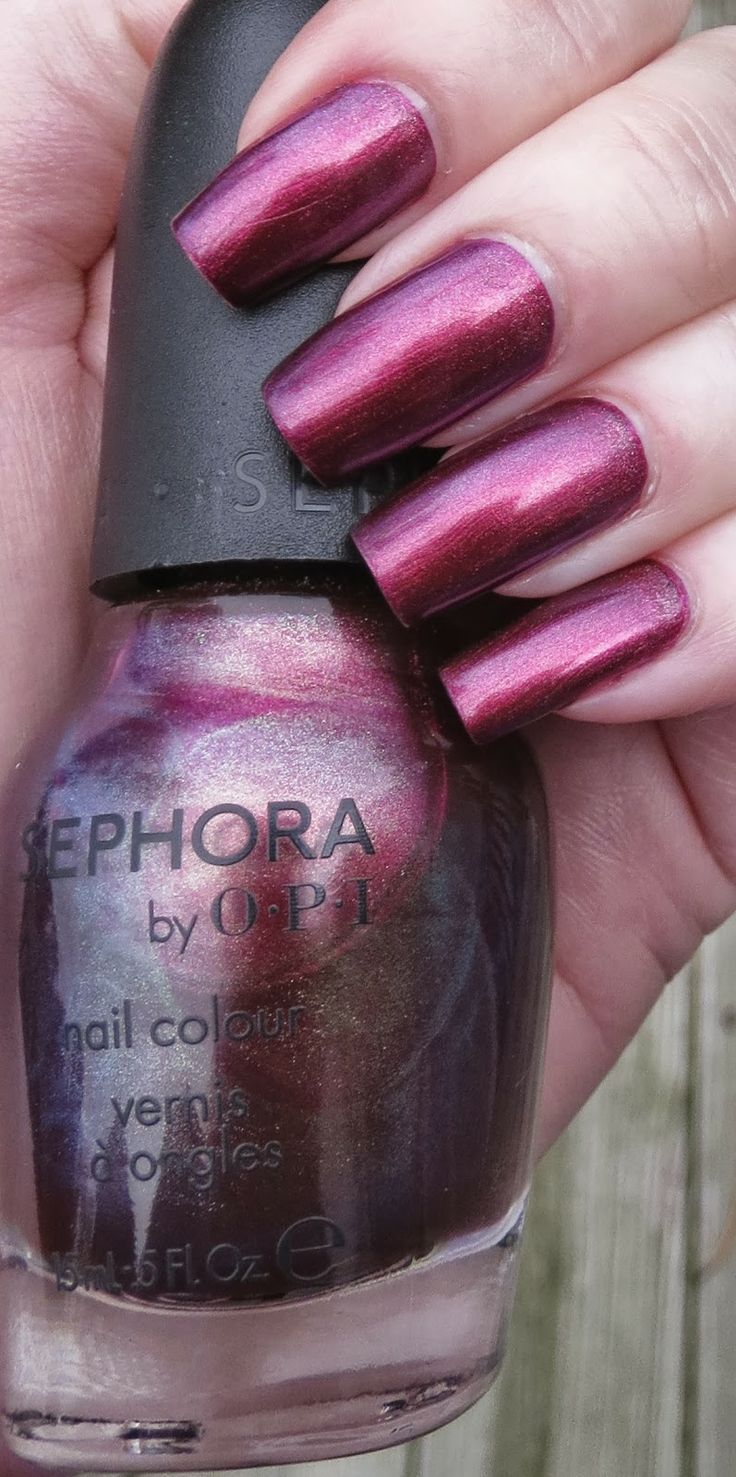 Ruby Without a Cause Duo Chrome Sephora by OPI, one mani as shown above actual bottle, $5
