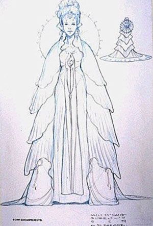 Star Wars - Queen Padme Naberrie Amidala  - Phantom Menace - concept art