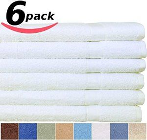 Utopia Cotton Bath Towel 27-Inch x 54-Inch 400GSM 6-Pack - Visit to see more options