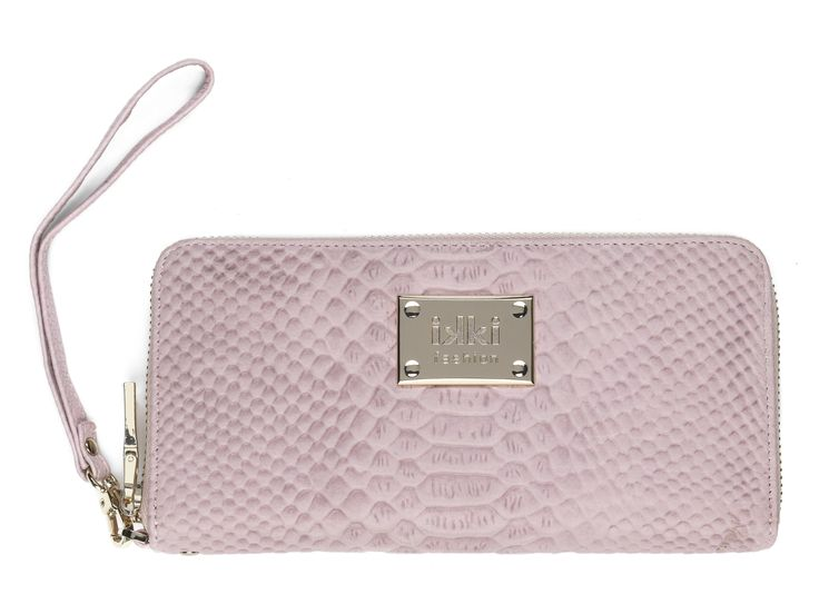 Portemonnee ikki Fashion, pink, gold, pastel, oudroze, purse, ikki style, roze, leather, leer