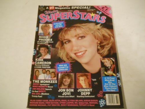 Debbie Gibson, Johnny Depp -16 Magazine Special Winter Superstars 1989