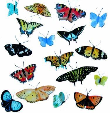"Saatchi Art Artist Mary Stubberfield; Painting, ""Butterflies"" #art"