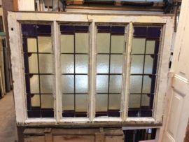 nr.gl8 glas in lood ruit | Oude glas in lood ramen | Oudedeur - paneeldeuren :
