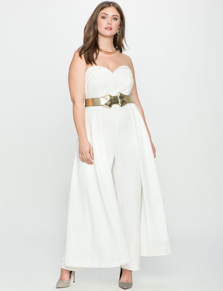 Sweetheart Neckline Jumpsuit with Skirt | Women's Plus Size Dresses | ELOQUII