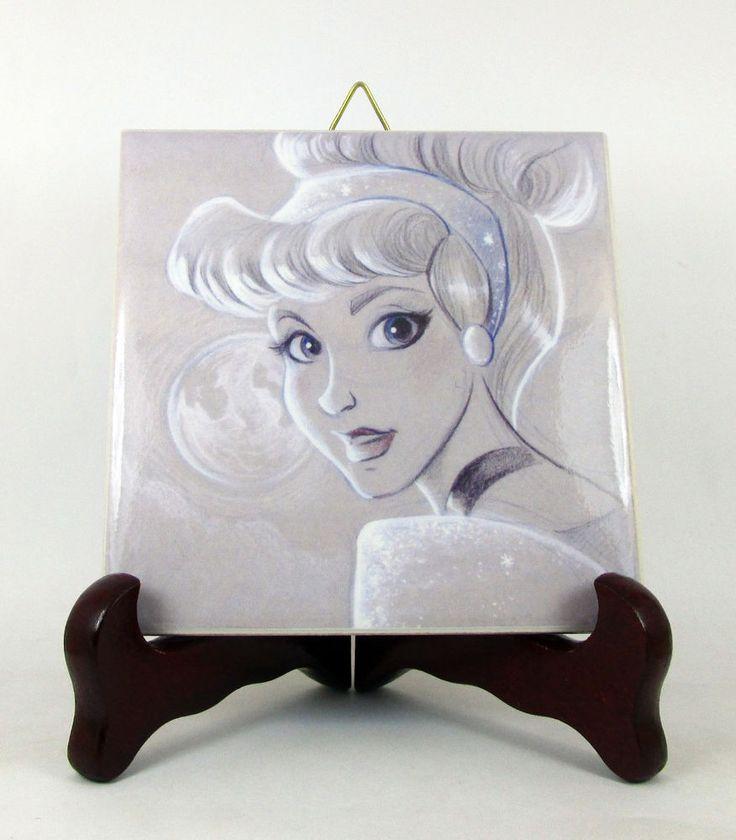 Cinderella - collectible ceramic tile inspired by Disney Princess - tile art  | eBay