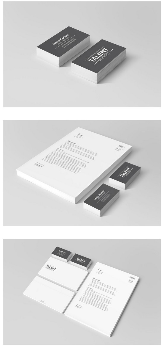Visual identity for TalentMarked by DESIGNafd.