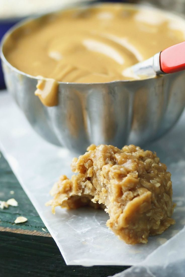 Fudgy Peanut Butter No-Bake Cookies