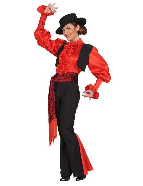 Spanierin Damenkostüm Stierkämpferin rot-schwarz, aus unserer Kategorie Karnevalskostüme Klassiker. Diese Stierkämpferin ist tierlieb und hat noch nie einen Stier getötet. Ihre Auftritte wirken eher wie gefährliche Tanzdarbietungen. Doch von einem hübschen Torero lässt sie sich gerne auf die Hörner nehmen ... Ein schickes Kostüm für Fasching und Mottopartys.