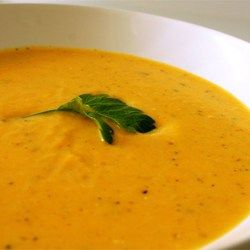 Squash, potatoes, carrots, celery, and onion cook up quickly into a thick, velvety soup that's ready in about an hour.