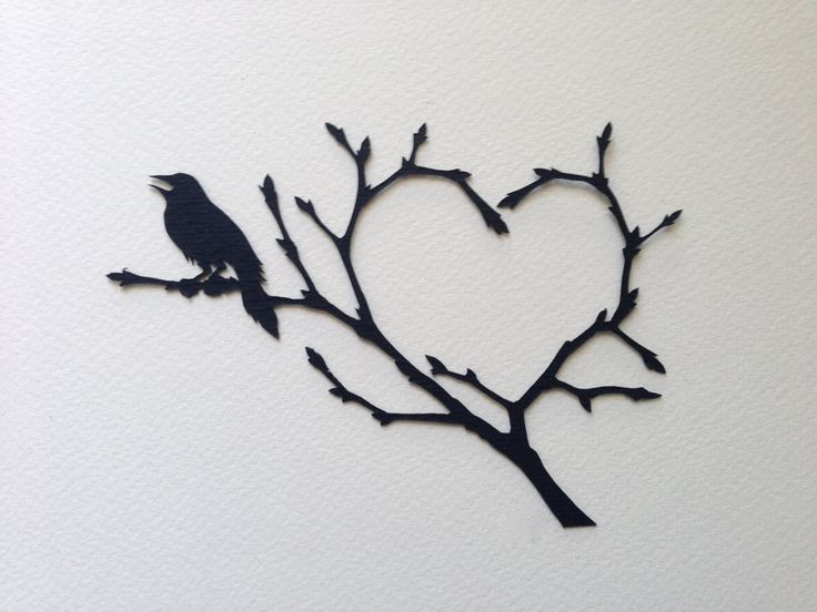 Love song, hand-cut paper by ChNNLampshade on Etsy