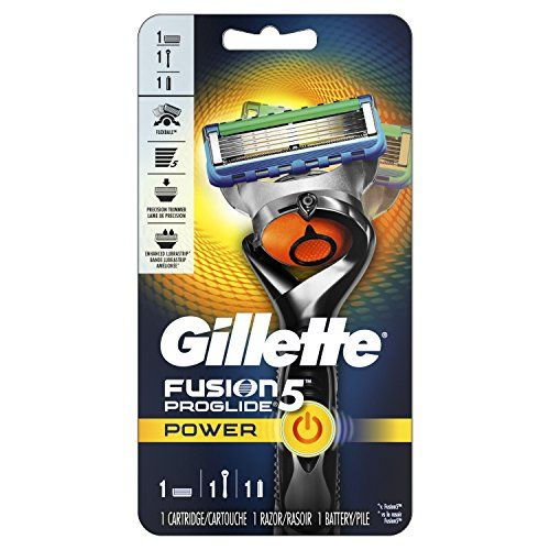 Gillette Fusion5 ProGlide Power Men's Razor with 1 Razor Blade Refill and 1 Battery, Mens Fusion Razors / Blades. For product & price info go to:  https://beautyworld.today/products/gillette-fusion5-proglide-power-mens-razor-with-1-razor-blade-refill-and-1-battery-mens-fusion-razors-blades/