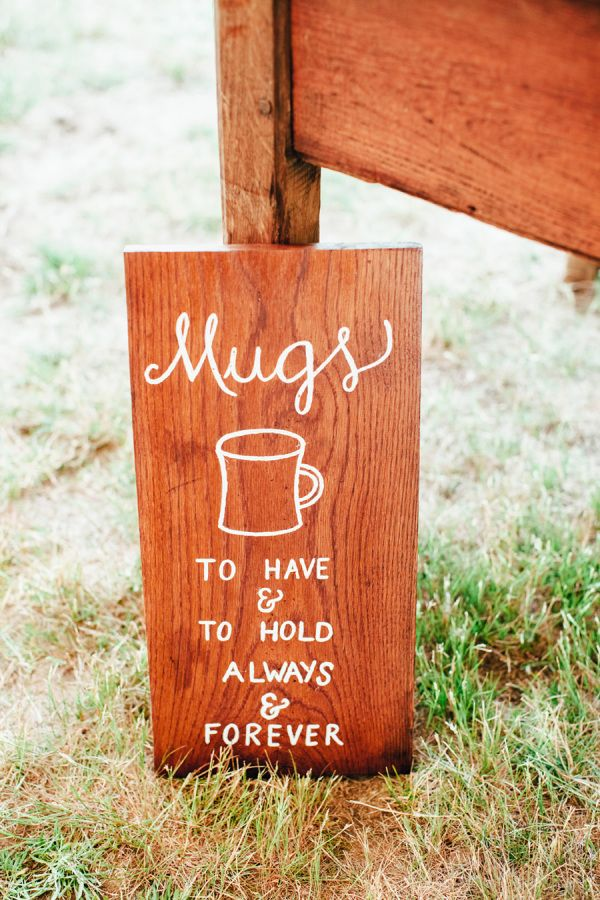 Mug favors! http://www.stylemepretty.com/massachusetts-weddings/marthas-vineyard/2015/10/14/rustic-marthas-vineyard-summer-wedding/ | Photography: Adachi Pimental - http://www.adachipimentel.com/