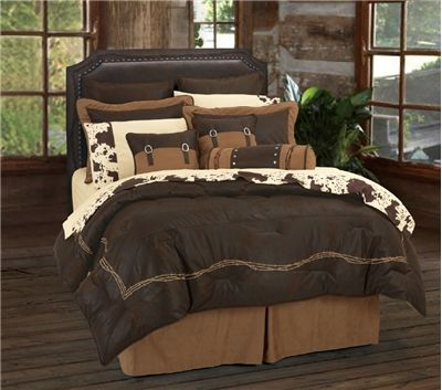 So excited for my new bed set to get here!!! (Barbed Wire Chocolate Brown Western Bedding Comforter Ensemble)