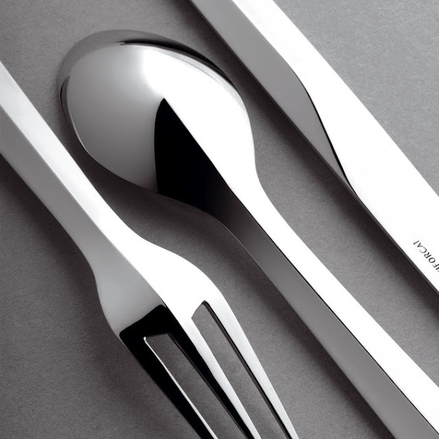 Crease surfacingProduct Design Detail, Beautiful Silverware