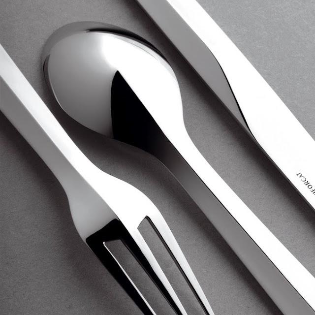 Elegant cutlery for Puiforcat. Patrick Jouin
