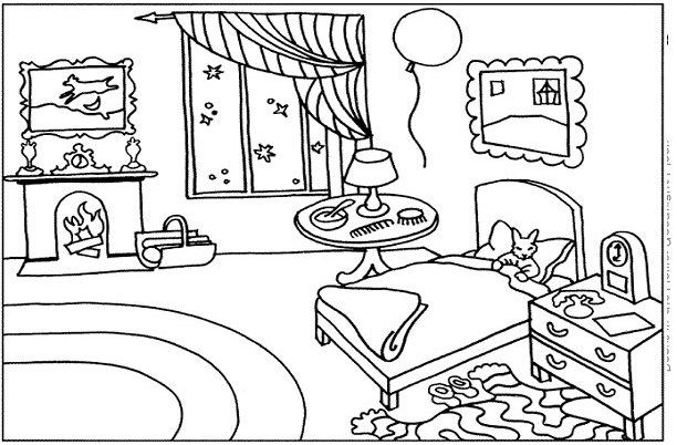 printable goodnight moon coloring pages - photo#1
