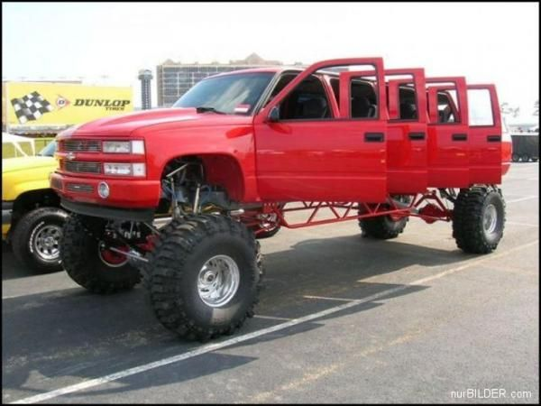 this limo is perfect, omg i just told my mom i wanted a jacked up truck limo for our wedding!! bahaha